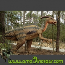 Museum's popular dinosaur display animatronic Parasaurolofus