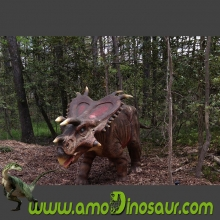 High quality artificial Mojoceratops animatronic dinosaurs for education park